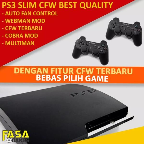 PS3 Slim 320gb CFW MurahPlaystation 3 Slim 320gb Fullgame CFW 2 Stick Stik Ds3 Wireless Terlaris