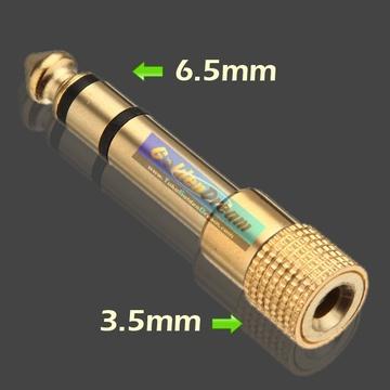 Audio Jack 6.5 to 3.5 mm Converter Konverter Connector Adapter Adaptor