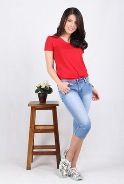 Celana Jeans Wanita Cropped 7/8 (7703B)