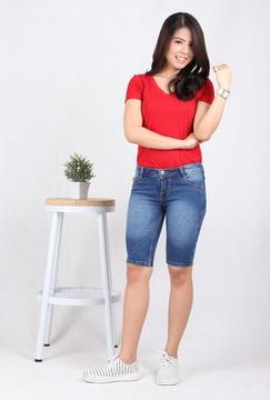 Celana Pendek Wanita Jeans (7708B)