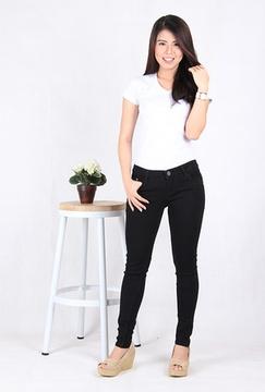 Skinny Jeans Wanita Big Size (9100)
