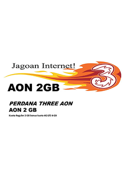 Perdana Tri AON 2 GB (paket isi 10)
