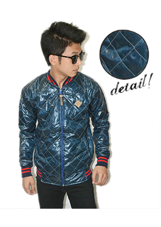 Jacket Varsity Quilted - Aqua Marine (Size Fit L)