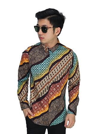 Kemeja Batik Elegant Gradasi - Yellow (Size L)