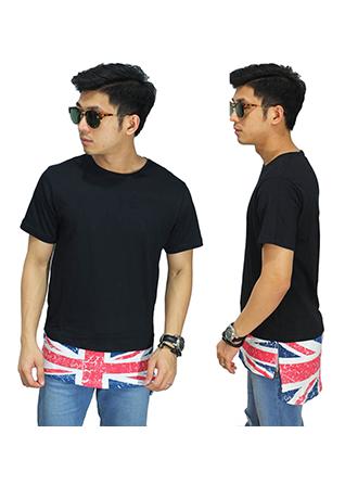 Longline T-Shirt With England Flag